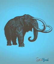 Vinyl Wall Decal Sticker Wolly Mammoth #454