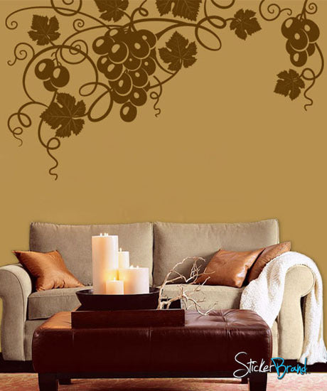 Floral Design Wall Decals : Vinyl wall decal sticker grapevine floral design
