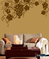 Vinyl Wall Decal Sticker Grapevine Floral design #455