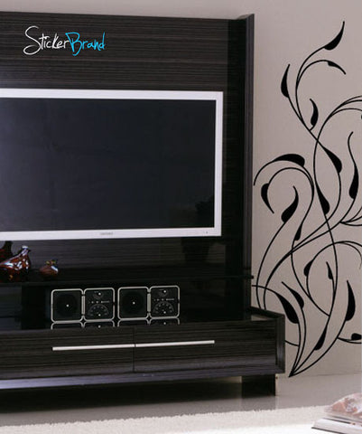 Vinyl Wall Decal Sticker Floral Vines Decor #457