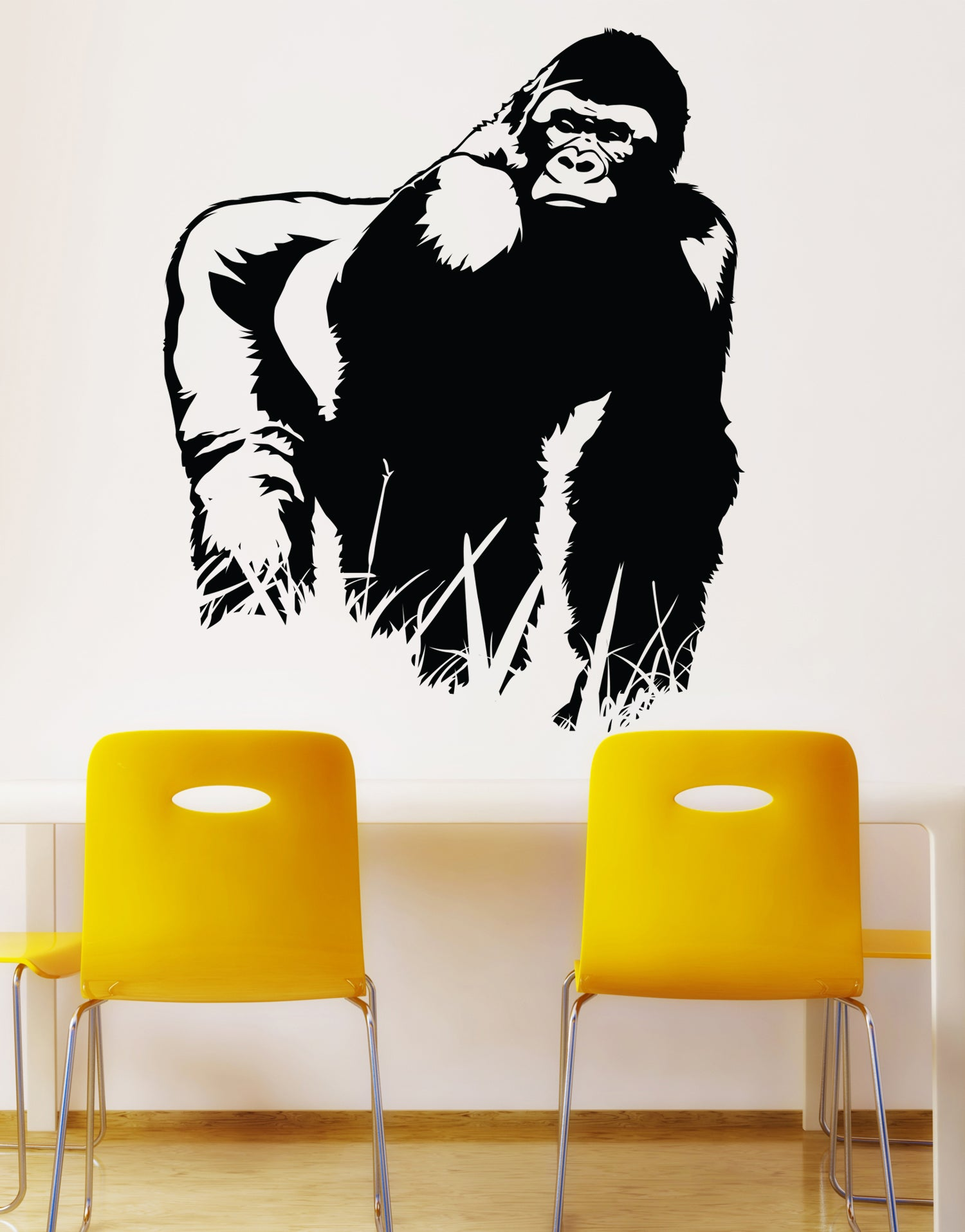Safari Jungle Gorilla Wall Decal. #460