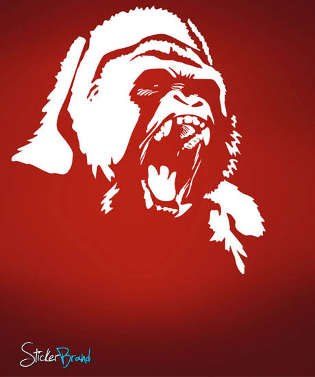 Vinyl Wall Decal Sticker Gorilla Face #461