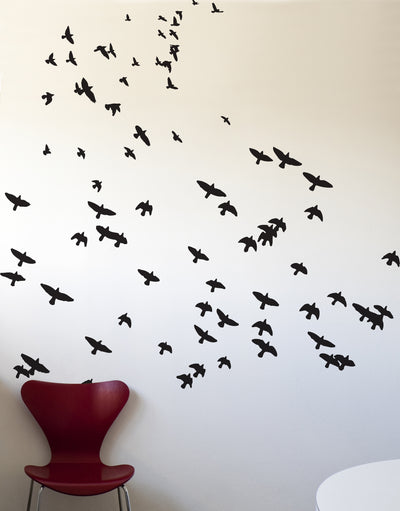 Scattered Flying Birds Vinyl Wall Decal Sticker. #466