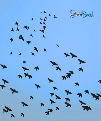 Vinyl Wall Decal Sticker Scattered Flying Birds #466