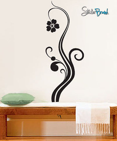 Vinyl Wall Decal Sticker Single Floral Flower #472