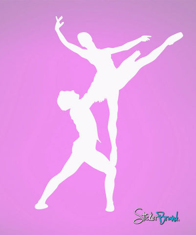 Vinyl Wall Decal Sticker Duel Ballerinas #474