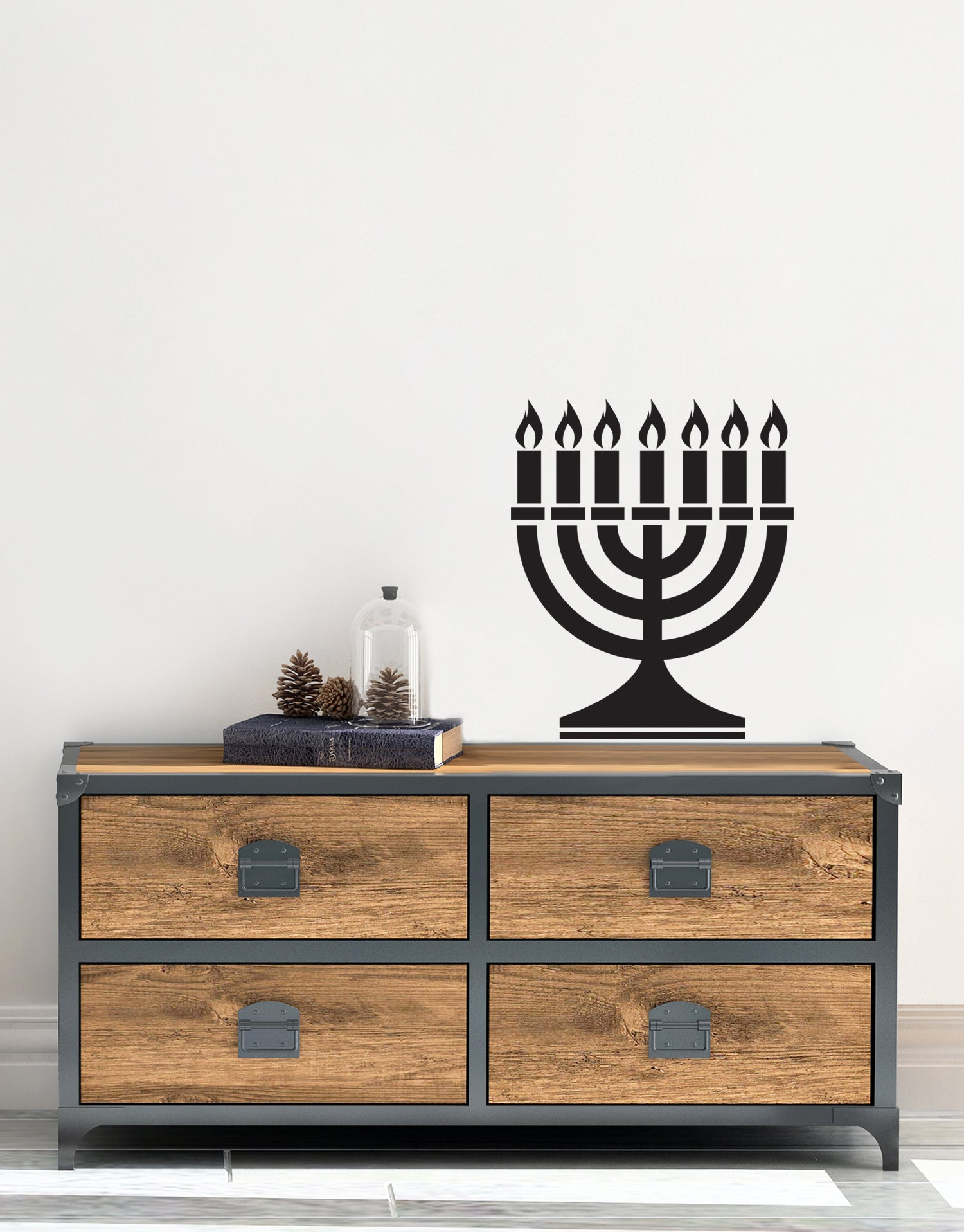 Jewish Menorah Vinyl Wall Decal Sticker. #481