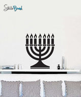 Vinyl Wall Decal Sticker Jewish Menorah #481