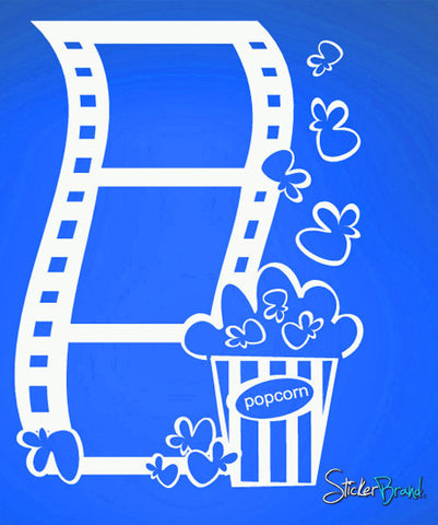 Vinyl Wall Decal Sticker Popcorn and Movie #484