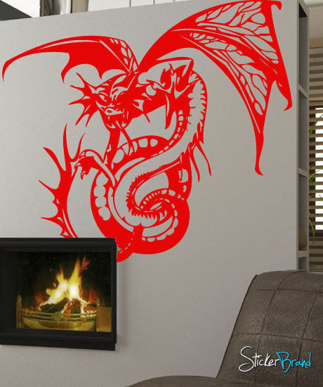 Vinyl Wall Decal Sticker Dragon - Custom vinyl wall decals dragon