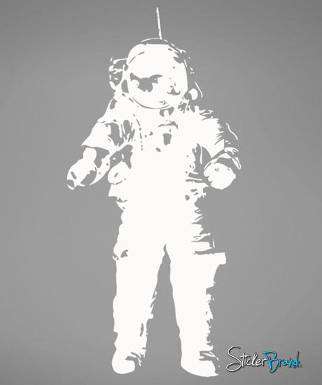 Vinyl Wall Decal Sticker Astronaut Moon Walk #491