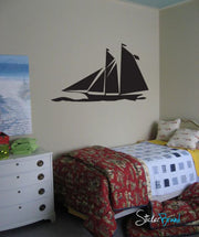 Vinyl Wall Decal Sticker Sailboat Yacht #495