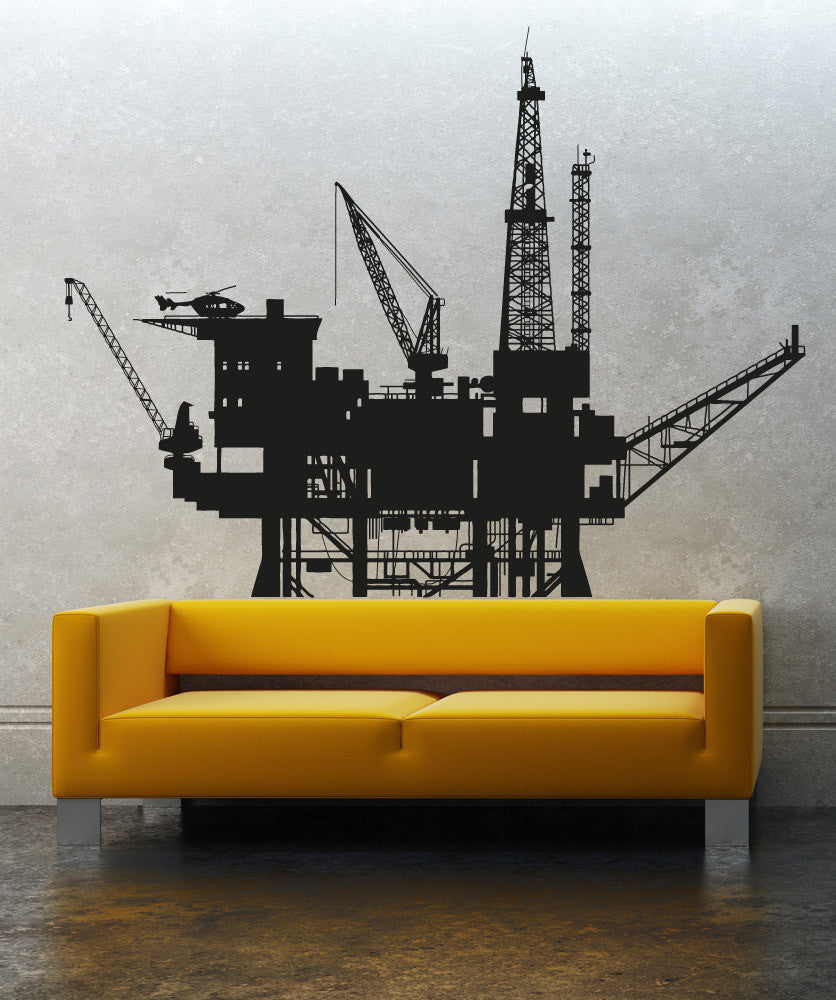 Vinyl Wall Decal Sticker Oil Well #5000