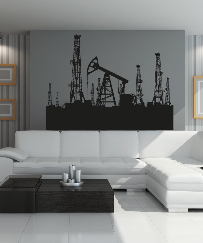 Vinyl Wall Decal Sticker Oil Refinery #5001