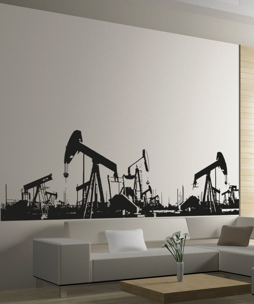 Vinyl Wall Decal Sticker Oil Pumps #5004