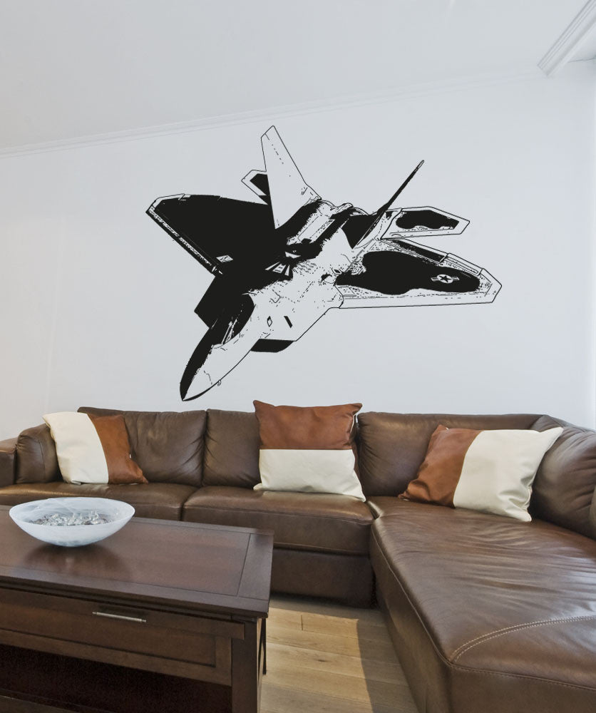 Vinyl Wall Decal Sticker F22 Jet #5008