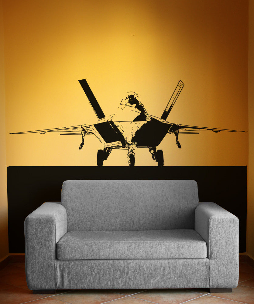 Vinyl Wall Decal Sticker F22 Jet Front View 5010