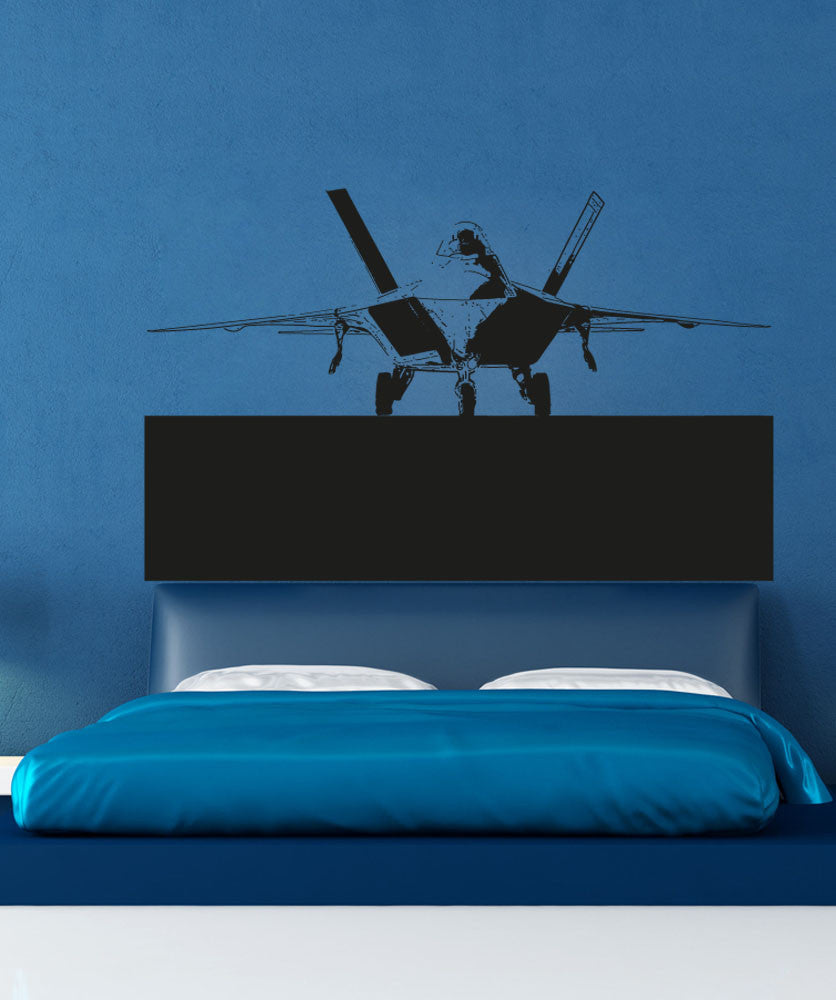 Vinyl Wall Decal Sticker F22 Jet Front View #5010