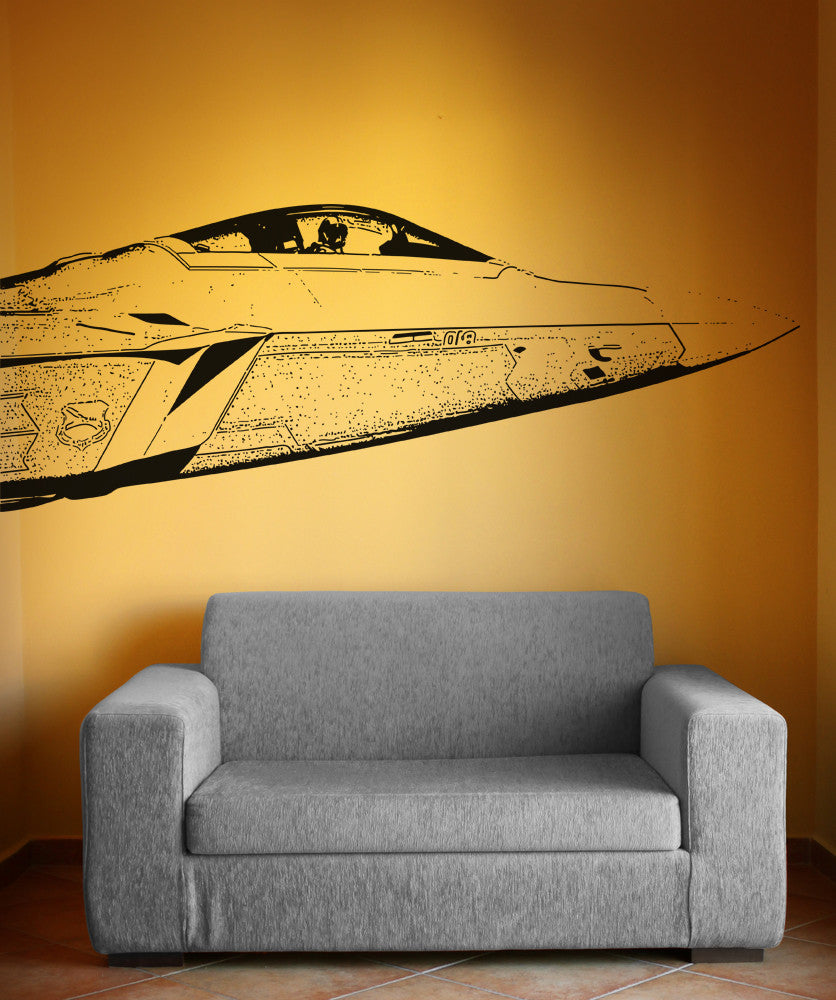 Vinyl Wall Decal Sticker F22 Jet Front #5011