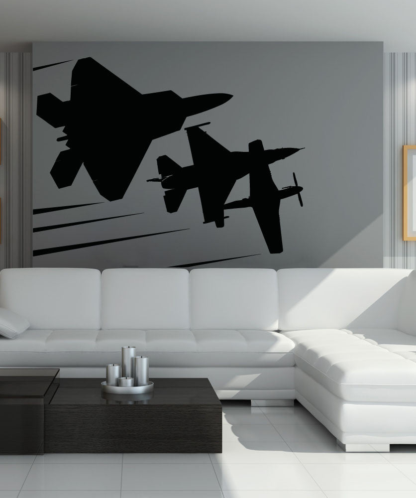 Vinyl Wall Decal Sticker Flying Planes #5015