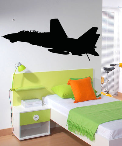 Vinyl Wall Decal Sticker Jet Silhouette #5016