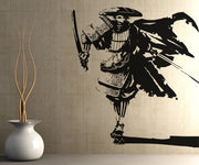 Vinyl Wall Decal Sticker Running Samurai #5021