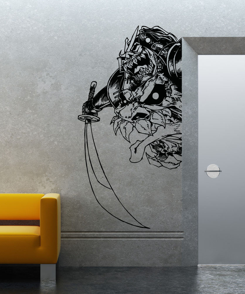 Vinyl Wall Decal Sticker Demon Samurai #5023