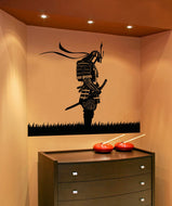 Vinyl Wall Decal Sticker Meditating Samurai #5024