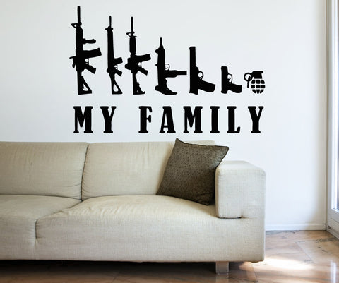 Vinyl Wall Decal Sticker Ammo Family #5026