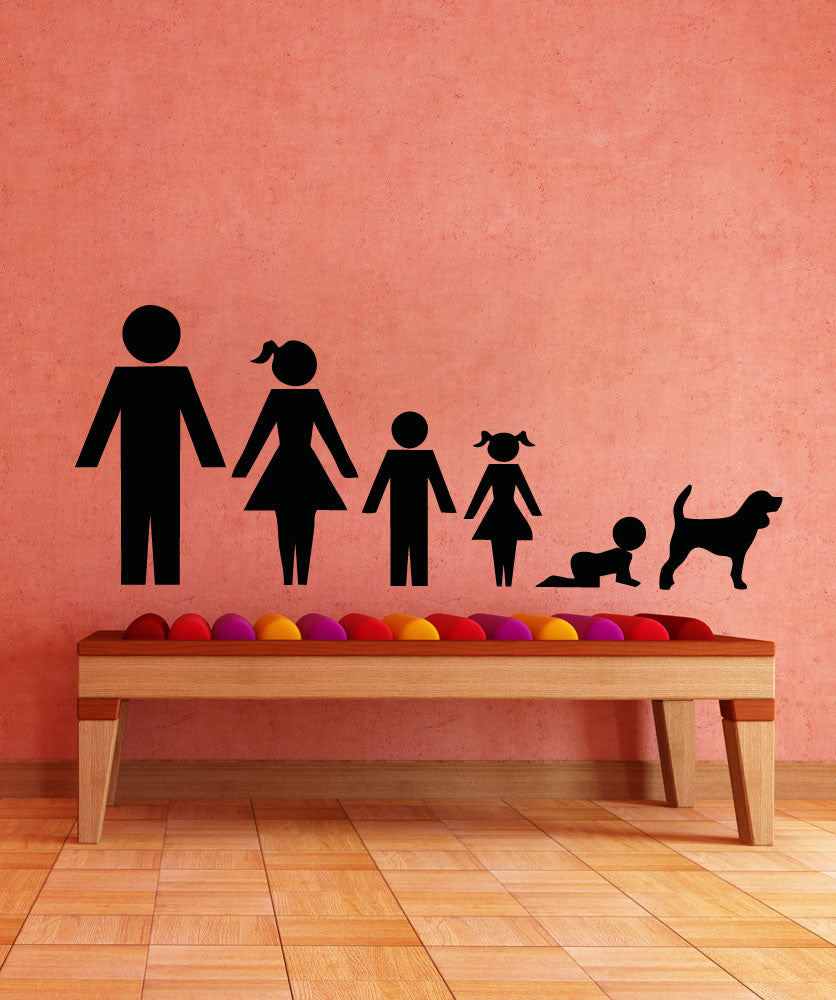 Vinyl Wall Decal Sticker Sign Figure Family #5028