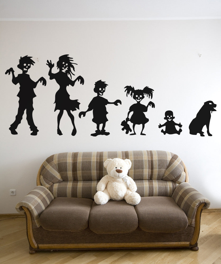 Vinyl Wall Decal Sticker Ghoul Family #5031