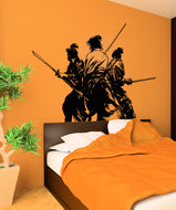 Vinyl Wall Decal Sticker Fighting Samurai #5037