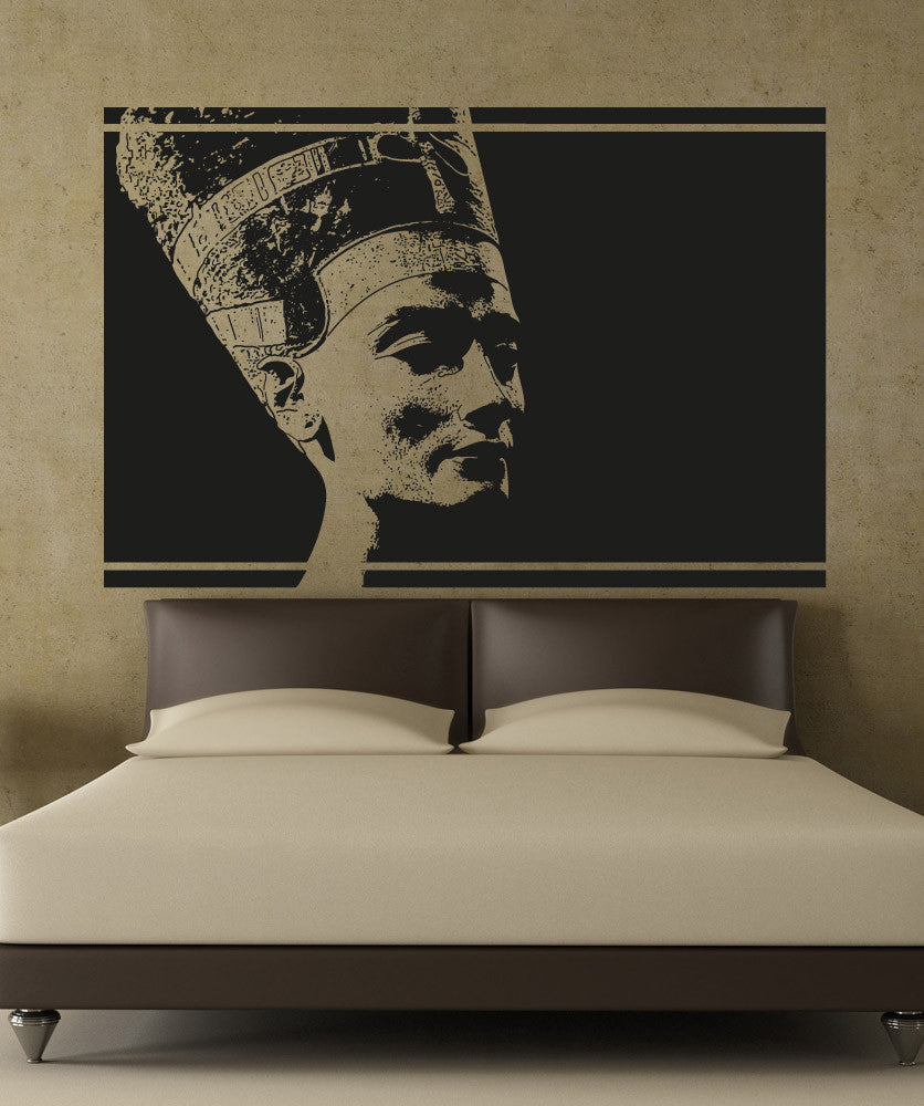Vinyl Wall Decal Sticker Queen Nefertiti Design #5038