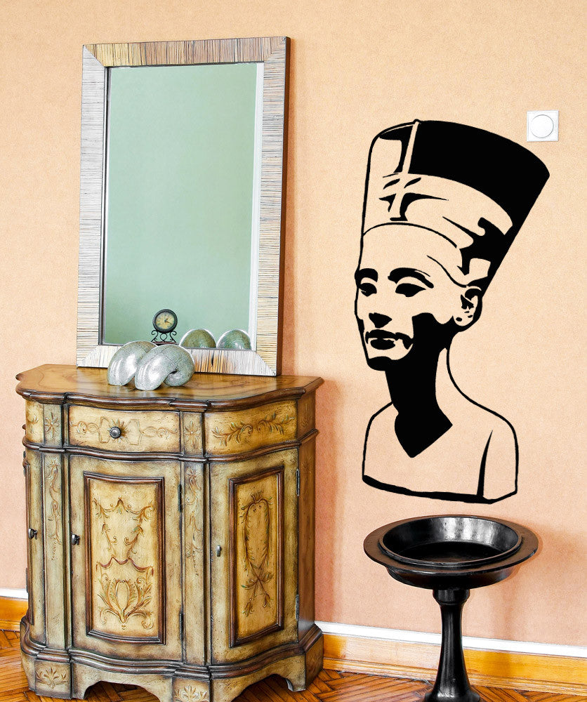 Vinyl Wall Decal Sticker Queen Nefertiti Bust #5039