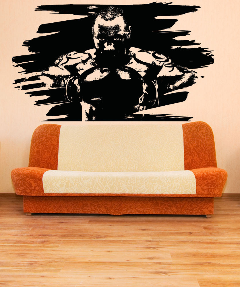 Vinyl Wall Decal Sticker Intimidating Boxer #5051