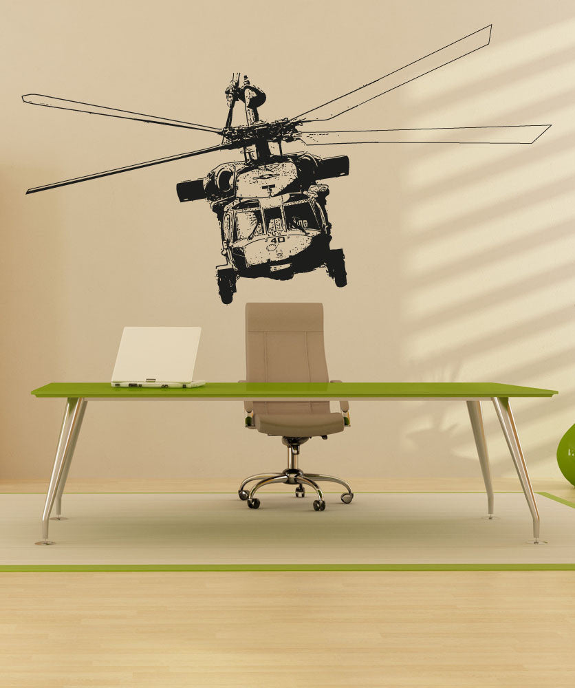 Vinyl Wall Decal Sticker Front of Helicopter #5055