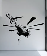 Vinyl Wall Decal Sticker Helicopter Drop Off #5056
