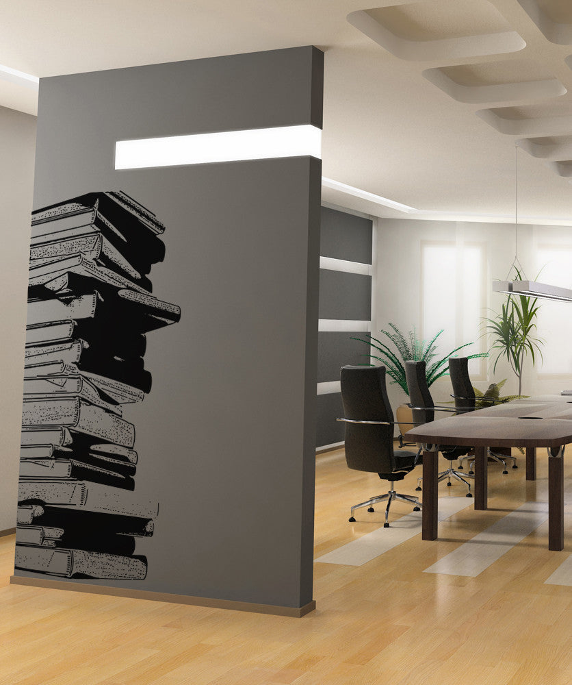 Vinyl Wall Decal Sticker Stack Of Books - Vinyl wall decals books