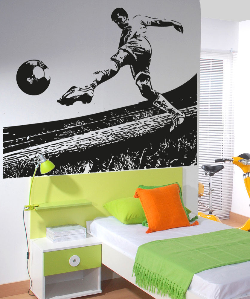 soccer wall art s wall decal. Black Bedroom Furniture Sets. Home Design Ideas