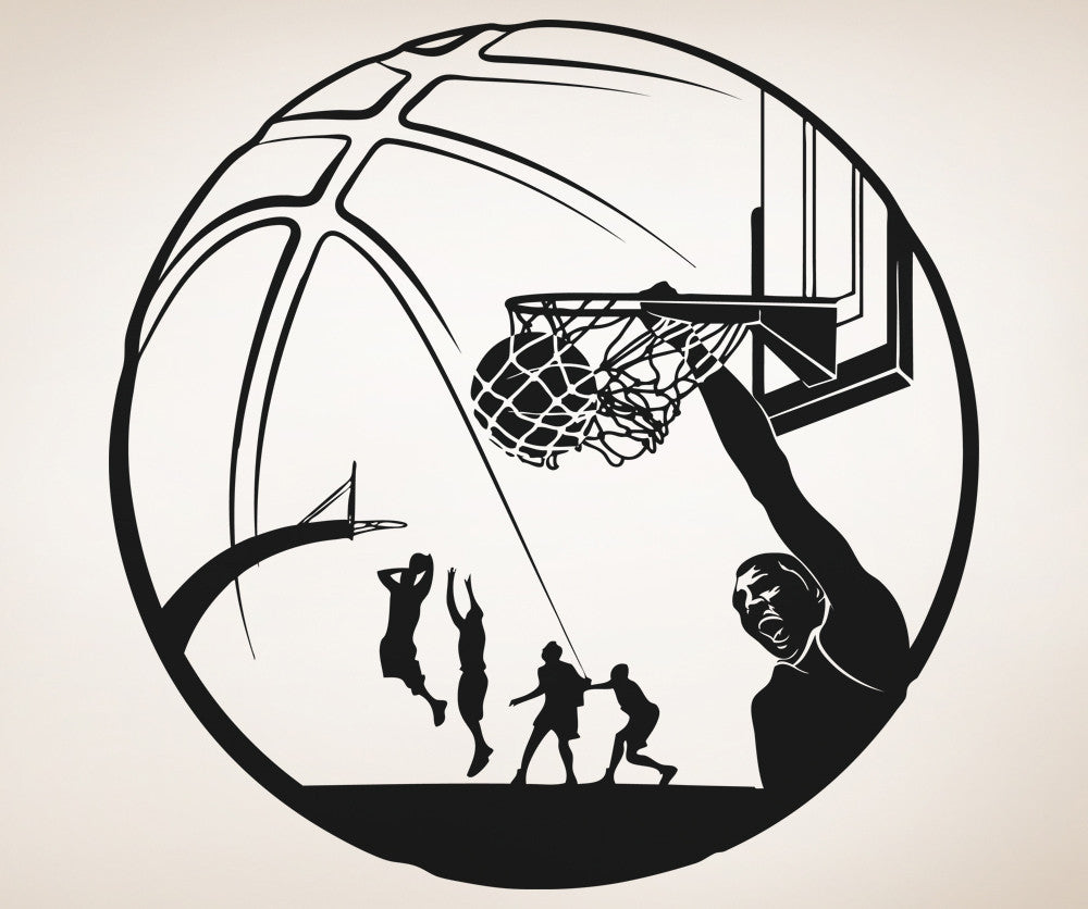 Vinyl Wall Decal Sticker Basketball Design #5083
