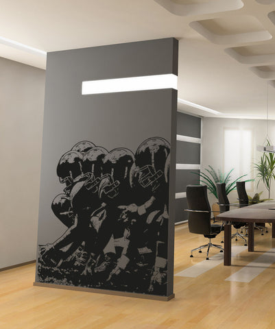 Football Player Lineup Wall Decal. #5086