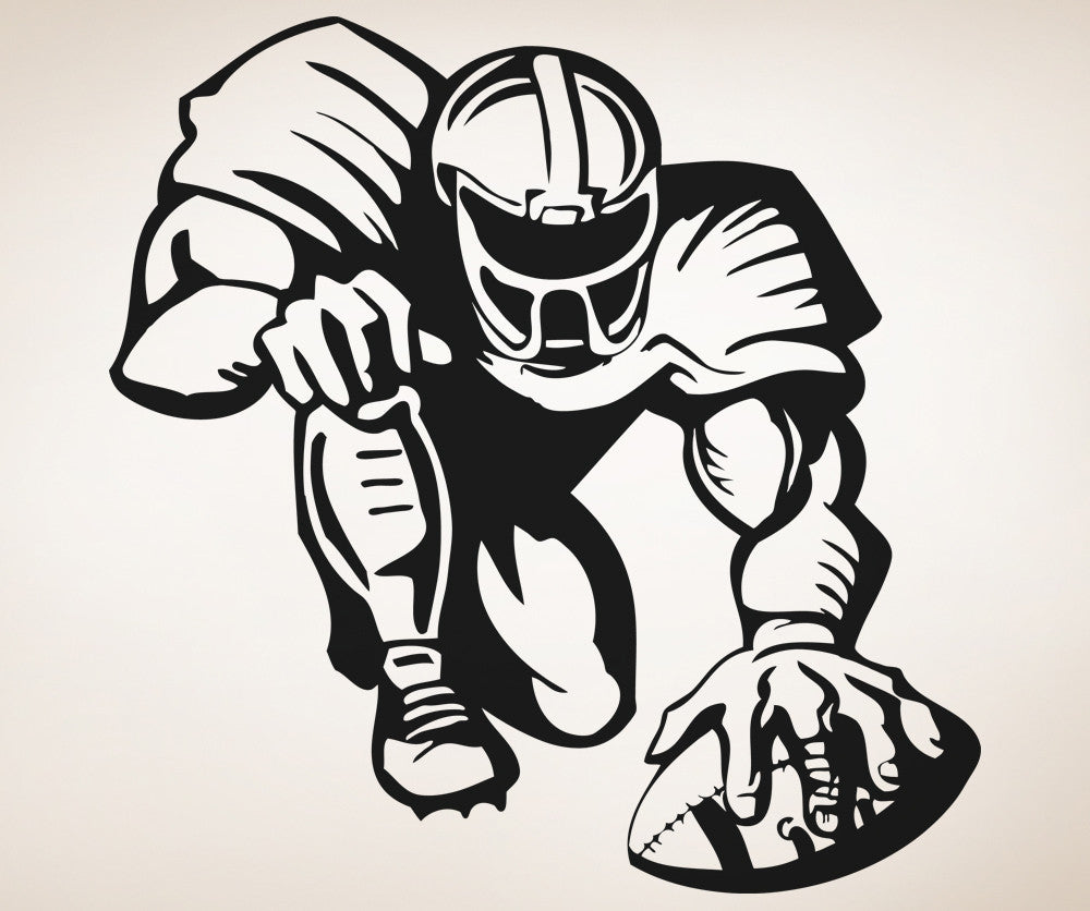 Vinyl Wall Decal Sticker Football Player Design 5087