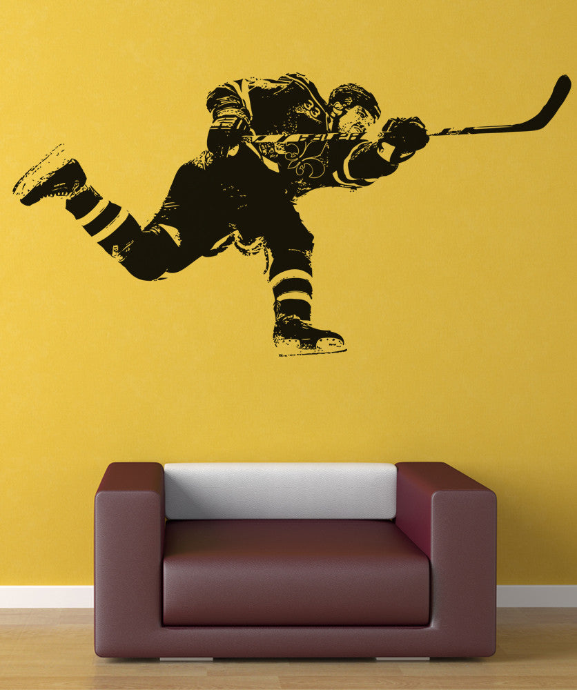 Vinyl Wall Decal Sticker Hockey Slap Shot #5089