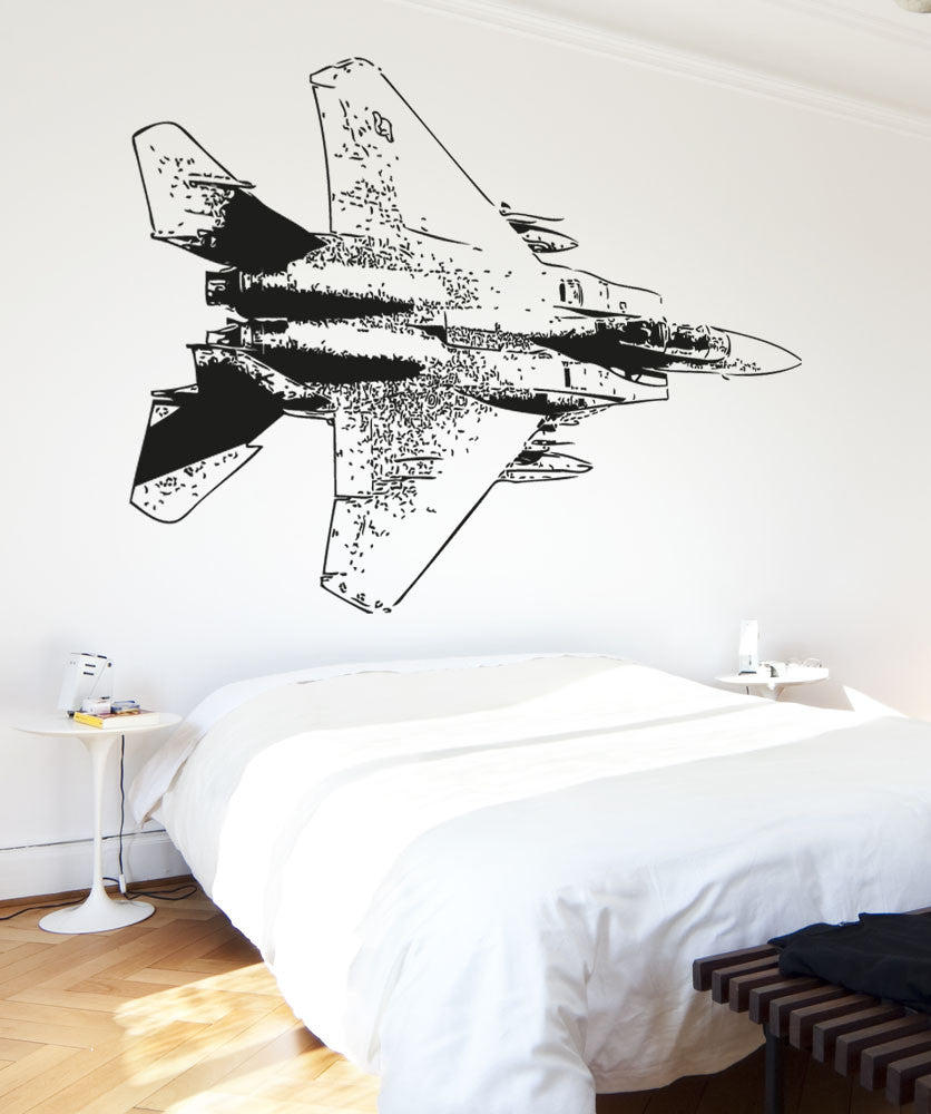 Vinyl Wall Decal Sticker F15 Jet #5098