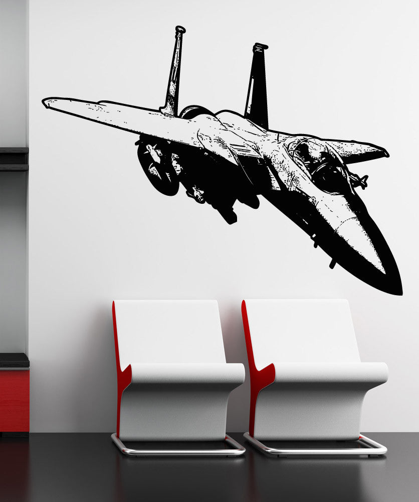 Vinyl Wall Decal Sticker Flying F15 Jet #5100