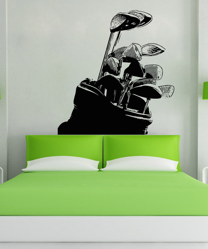 Vinyl wall decal sticker golf clubs 5103 amipublicfo Gallery