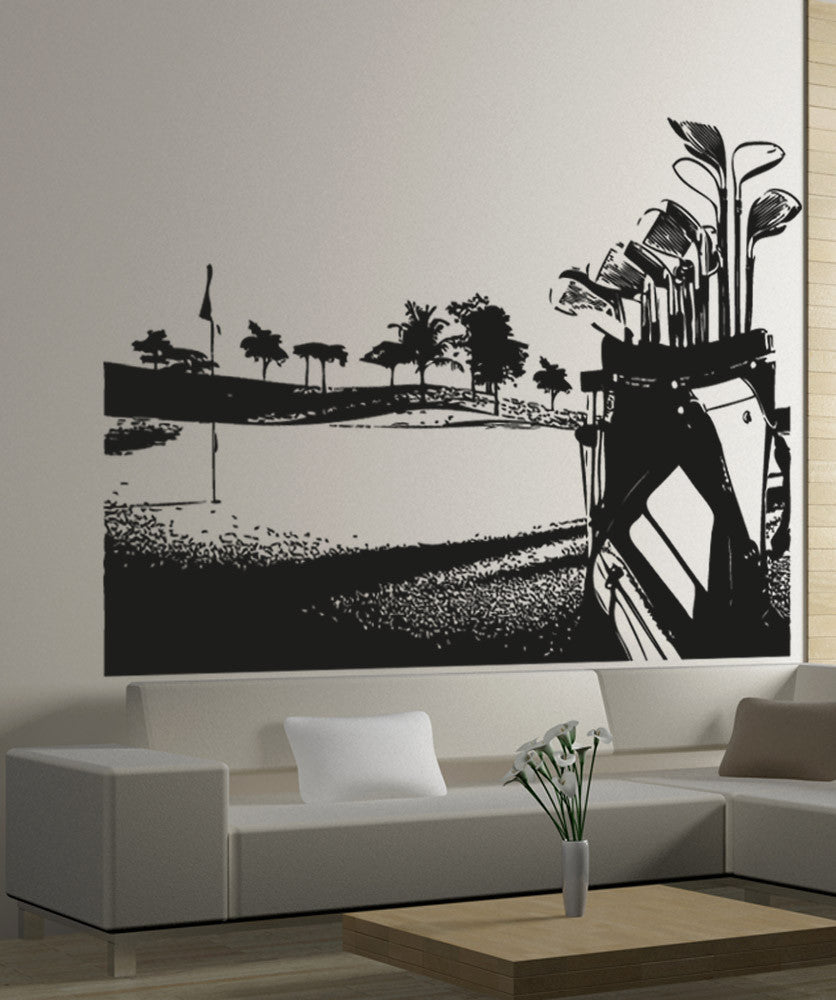 Vinyl wall decal sticker golf course 5105 amipublicfo Gallery