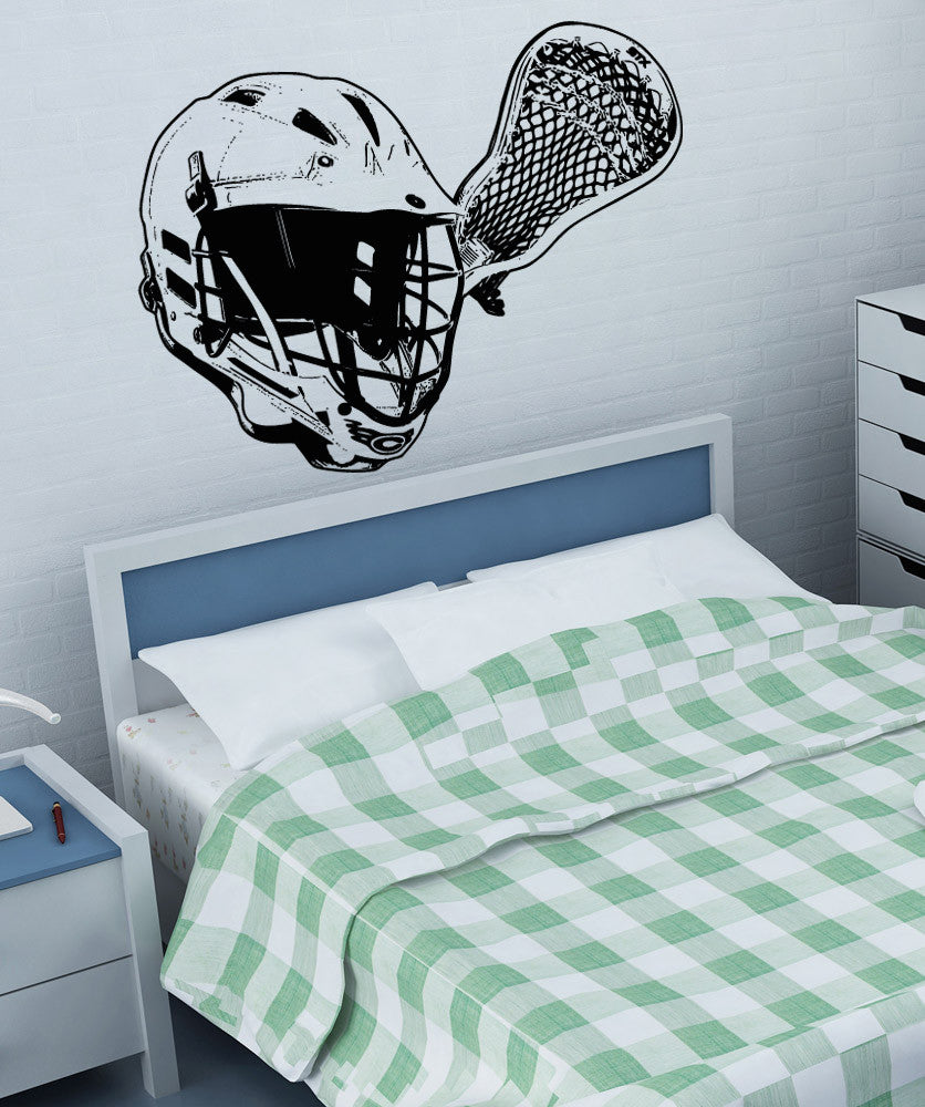 Vinyl Wall Decal Sticker Lacrosse Equipment - Custom vinyl wall decal equipment