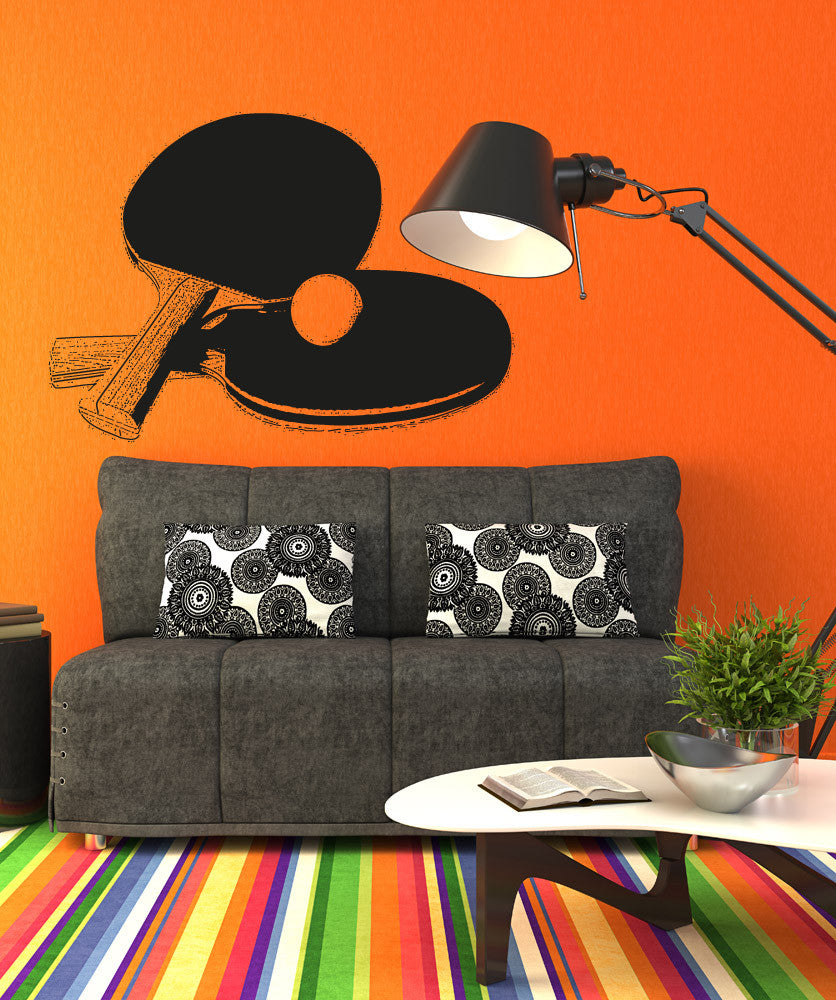 Vinyl Wall Decal Sticker Ping Pong Paddles #5110