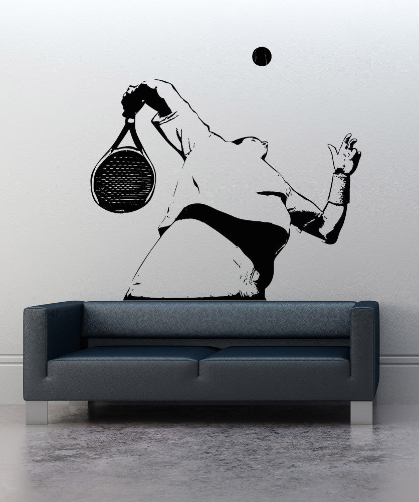Vinyl Wall Decal Sticker Tennis Serve #5111